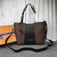 LV Louis Vuitton WOMEN'S DAMIER EBENE CANVAS HANDBAG INCLINED SHOULDER BAG