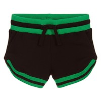 Girls Black with Green Shorts