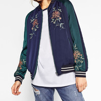 EMBROIDERED REVERSIBLE BOMBER JACKET