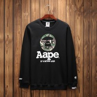 Cotton High Quality Print Round-neck Hoodies [9282218055]