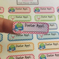 Doctor appointment stickers for your erin condren planner