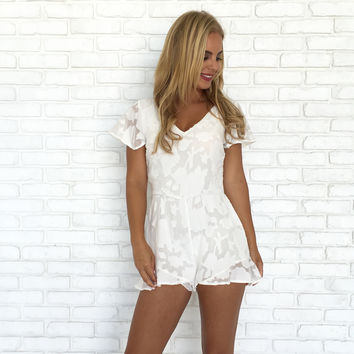 Pina Colada Romper In White