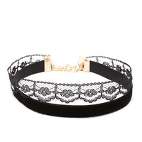 Velvet And Lace Choker Set