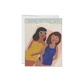 Besties Foil Birthday Card