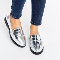 New Look Wide Fit Metallic Loafer