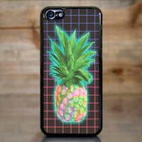 Electric Grid Tie Dye Pineapple Case for Apple iPhone 5c