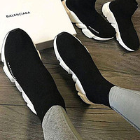 Balenciaga Sock Boots Woman Men Fashion Breathable Sneakers Running Shoes White