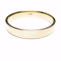 Classic Polished 14K Yellow Gold 4mm Men's Wedding Band Ring Size 13