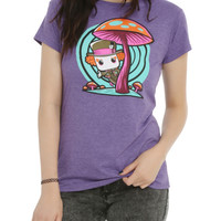 Funko Disney Pop! Alice In Wonderland Mad Hatter Mushroom Girls T-Shirt Hot Topic Exclusive