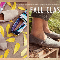TOMS Shoes & Eyewear Official Store - With Every Pair You Purchase, TOMS Will Help a Person in Need. One for One. | TOMS.com
