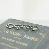 Love intial Set ring(unique,simple,vintage)