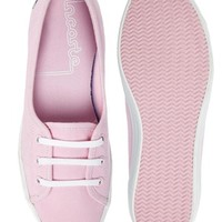 Lacoste Ziane Chunky EOS Light Pink Plimsoll Trainers