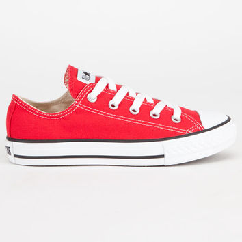 Converse Chuck Taylor All Star Low Boys Shoes Red  In Sizes