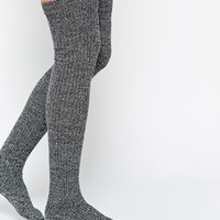 ASOS Over The Knee Mix Knit Socks