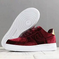 Nike air force 1 Men Women Trending Fashion Casual Running Sport Casual Shoes Sneakers Wine Red G-SSRS-CJZX