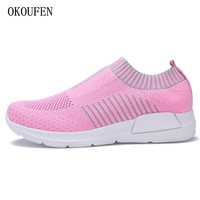 Outdoors adults trainers summer Running Shoe for woman sock footwear sport athletic Lightweight breathable Mesh female Sneakers