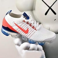 Nike Air VaporMax Flyknit 3.0 Knitted Large Airbag Men's and Women's Casual Sports Jogging Shoes