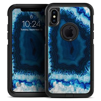 Vivid Blue Agate Crystal - Skin Kit for the iPhone OtterBox Cases