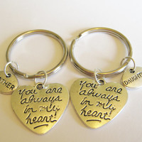 2  Mother Daughter You Are Always In My Heart Keychains BFF