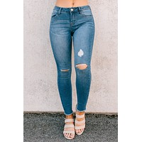 Love You Always Raw Hem Skinny Jeans (Medium)