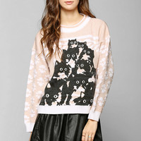 Pretty Snake One-Of-A-Kind Crazy Kitty Sweater - Urban Outfitters
