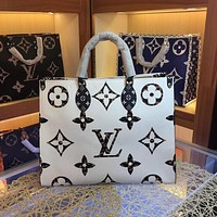 lv louis vuitton women leather shoulder bags satchel tote bag handbag shopping leather tote 225