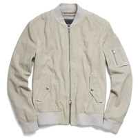 Stone Suede Bomber