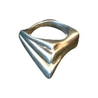Pre-owned Italian Modern Abstract Sterling Ring