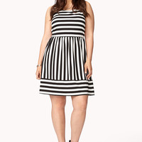 Dreamer Striped Fit & Flare Dress