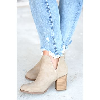 All In Booties - Taupe