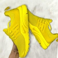 NIKE Air Presto  Women Men Fashion Running Sport Casual Shoes Sneakers yellow soles H-AA-SDDSL-KHZHXMKH