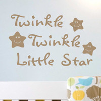 Twinkle Twinkle Little Star | Nursery Decal | Vinyl Wall Lettering