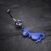 Vibrant Dinosaur Belly Ring