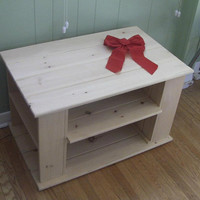 Solid Pine Console storage unit or small TV stand