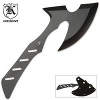 BudK Singapore Sling Throwing Axe Black With Sheath
