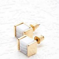 Cube Faux Stone Studs