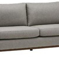 Wood Modern Sofa NEW Rivet North End Exposed 78W Grey Weave FREE SHIPPING
