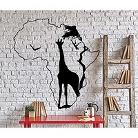Wall Decal Africa African Giraffe Wild Animals Savanna Home Interior Decoa Unique Gift z4040