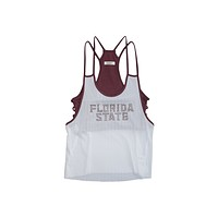 Florida State University Mesh Tank with Rhinestones and Attached Sporty Bralette