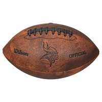 Wilson Minnesota Vikings Throwback Youth-Sized Football (Brown)