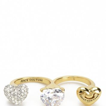 Triple Finger Juicy Heart Ring by Juicy Couture