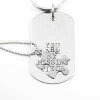 """""""You are my missing piece"""" puzzle piece set"""