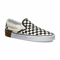 Vans Classic Slip On (Gum Block) Checkerboard Skate Shoes Womens Sizes