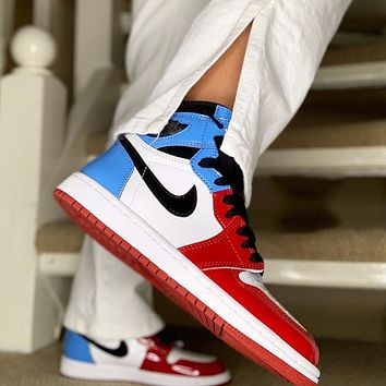 Nike Air Force 1 Women's Casual Colorblock Sneakers Shoes