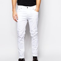 ASOS Stretch Slim Jeans In White