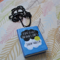 The Fault in Our Stars book necklace
