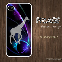 Giraffe with galaxy Pattern : Handmade Case for Iphone 4/4s , Iphone 5 Case Iphone
