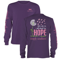 Simply Southern Always Have Hope Breast Cancer Long Sleeve T-Shirt