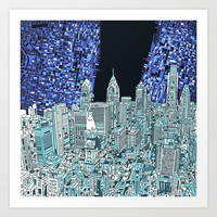 philadelphia city skyline Art Print by bekimart