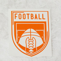 4x4.5 Inch Football Insignia Vintage Badge Athletic Graphic Permanent Vinyl Decal/Bumper Sticker